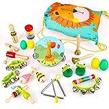 BeebeeRun Instrumentos Musicales para Infantil, 23PCS Juguetes Musicales para Bebes, Percusión Instrumentos con Bolsa de Almacenamiento Educativo Bebés Regalos para Niño y Niña 3 años +