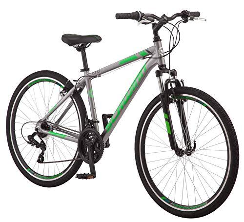 Schwinn GTX 1.0 Comfort Adult Hybrid Bike, Dual Sport Bicycle, 18-Inch Aluminum Frame, Grey