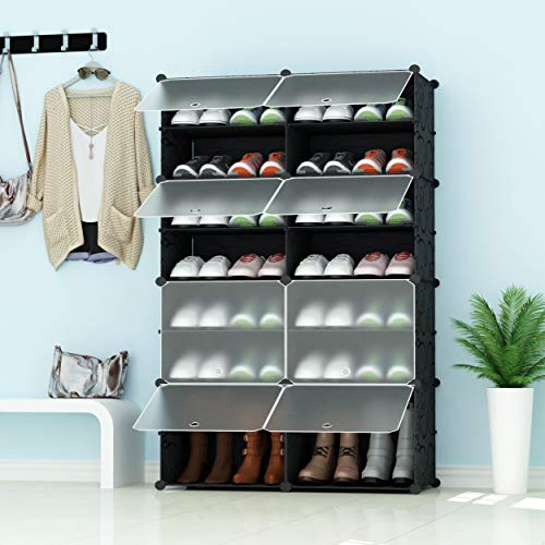 JOISCOPE Portable Shoe Storage Organzier Tower, Modular Cabinet for Space Saving, Ideal Shoe Rack...