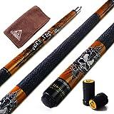 CUESOUL Rockin Series 57'21 oz Maple Pool Cue b?Ton Set avec Joint Protector Protector/Arbre et Cue Serviette (G406)