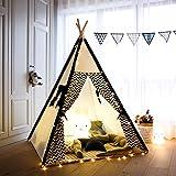 Tente de jeu de tipi pour enfants en toile de coton Tente de tipi indien pour...