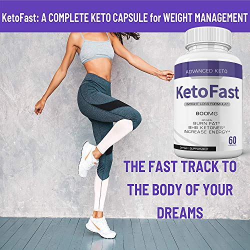 (3-Pack) Keto Fast Diet Pills Advanced Ketogenic Keto Fast Burn Ultra Weight Management Capsules 700mg Pure Keto Fast Supplement for Energy - BHB Boost Exogenous Ketones for Rapid Ketosis Men Women 4