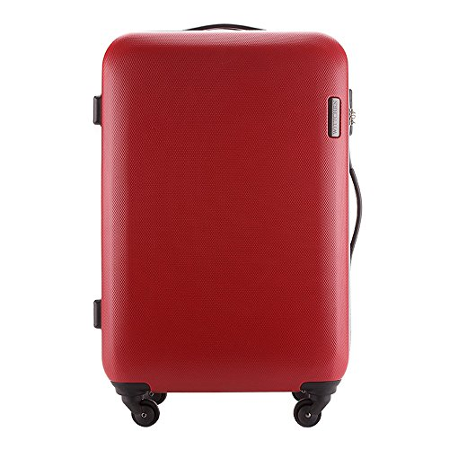 WITTCHEN Koffer – Handgepäck | hartschalen, Material: ABS | hochwertiger und Stabiler | Rot | 27 L | 55x36x20 cm