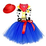 O'COCOLOUR Cowgirl Tutu Dress Woody Costume 100th Day of School Birthday Pageant Halloween Holiday Party Toddler Outfits 3-4 years