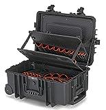 KNIPEX 00 21 37 LE Maleta de herramientas 'Robust45' con ruedas integradas y asa telescópica vacía