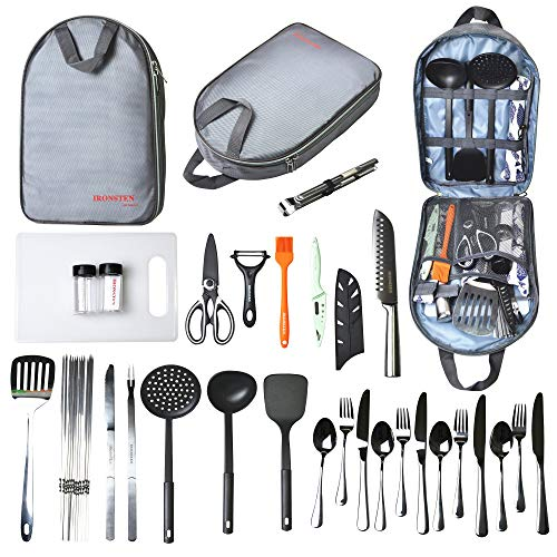 Ironsten Camping Cooking Utensils Set Camp Kitchen Equipment...