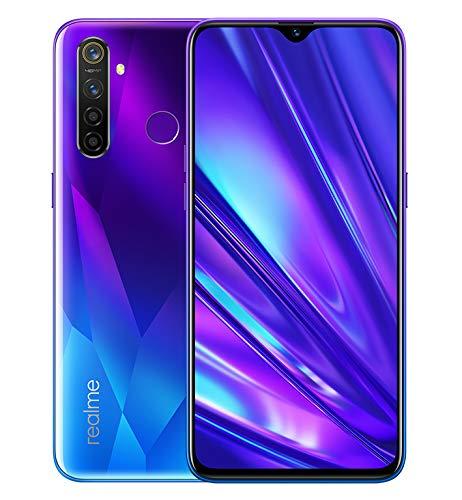 Realme 5 Pro Smartphone 4GB RAM + 128GB ROM, Pantalla de 6.3'' IPS, coprocesador Octa-Core, 16MP Frontal y 48MP AI Cuádruple Cámara, Dual Sim, Sparkling Blue (Azul)