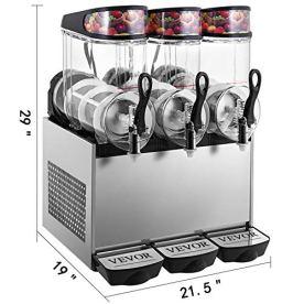 VEVOR-110V-Slushy-Machine-12Lx3-Bowl-Frozen-Drink-900W-Margarita-Maker-for-Supermarkets-Restaurants-Commercial-Use-36L-Sliver