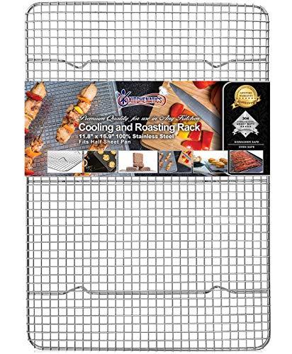 Kitchenatics Graticola a filo in acciaio inox professionale per raffreddare e riscaldare - adatta...