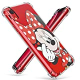 Logee TPU Minnie Mouse Cute Cartoon Clear Case for iPhone XR 6.1,Fun Kawaii Animal Soft Protective Shockproof Cover,Ultra-Thin Chic Unique Funny Character Cases for Kids Teens Girls Boys(iPhoneXR)