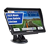 CARRVAS 7 Inch GPS Navigation for Car and Truck 2020 Version Americas Map & Voice Reported Highway Speed Camera & Poi Lane Assist, Supported Post Code, Favorites & Address Search