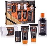 BRUBAKER Cosmetics - Coffret de bain & douche - Men's Spa Sport/Musc - 5 Pièces -...
