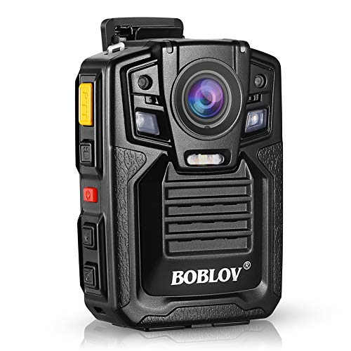 Body Worn Camera with Audio, BOBLOV 1296P Police Body Cameras for Law Enforcement, Security Guard, Waterproof Body Mounted Cam DVR Video IR with Night Vision, 170 Wide Angle Built in 32GB