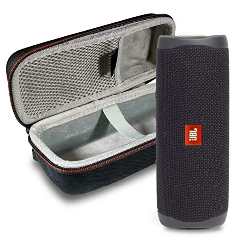 This Bundle Includes: (1) JBL FLIP 5 Portable Bluetooth Speaker and (1) Portable Hardshell Case A full–featured IPX7 waterproof portable Bluetooth speaker with surprisingly powerful sound This speaker is powered by a 3000 mAh rechargeable Li–ion battery that offers 12 hours of continuous, Audio playtime