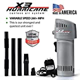 X3 Hurricane Variable Speed 260mph+ Cordless Rechargeable Electronic Duster Compressed Can Air Cleaner