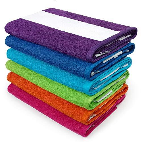 Kaufman - Cabana Terry Loop Towel 6-Pack - 32in x 62in