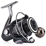 Sougayilang Fishing Reel Double Bearing Light Smooth Casting 5.2:1 Collapsible Handle Spinning Reels (DE7000)