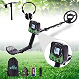 4YANG Ferrous Metal Detector for Adults and Kids, High Accuracy Metal 3 Modes Adjustable Detector with LCD Screen and LED Light Waterproof Search Coil for for Beginners Treasure Hunting
