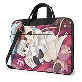 XCNGG Toaru Majutsu no Index Anime Laptop Hombro Messenger Bag Tablet Computadora Almacenamiento Mochila Bolso 14 Pulgadas