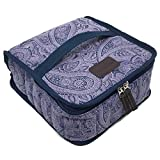 42-Bottle Essential Oil Carrying Case (5ml,10ml,15ml) with Plush Velvet Interior for doTERRA, Young Living Bottles for Aromatherapy Travel or Storage (Midnight Blue)