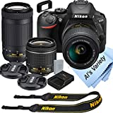 Nikon D5600 DSLR Camera Kit with 18-55mm VR + 70-300mm Zoom Lenses   Built-in Wi-Fi   24.2 MP CMOS...