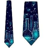 Cravate De Cravate D'Hommes,Cravate De Chimie Cravates De Béchers De La Science Des Hommes,Neck Tie,145Cm