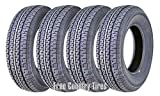 FREE COUNTRY Set 4 Premium Trailer Tires ST205/75R15 8PR Load Range D Radial w/Scuff Guard