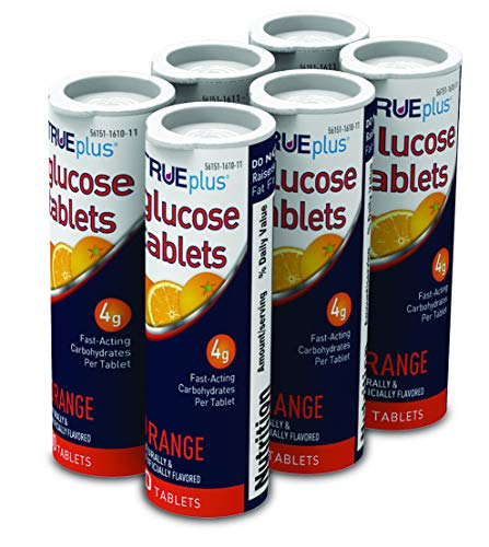 TRUEplus® Glucose Tablets, Orange Flavor - 10ct Tube (6)