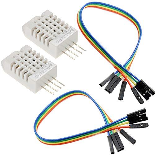 Rasbee 2個 デジタル温度湿度センサーモジュール 国内配送 DHT22 AM2302 DHT-22 3.5V-6V DC 交換SHT10 SHT1...
