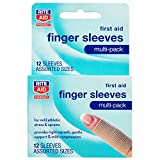Rite Aid Compression Finger Sleeves, Multi-Pack - 12 Count | Finger Support | Arthritis Pain Relief