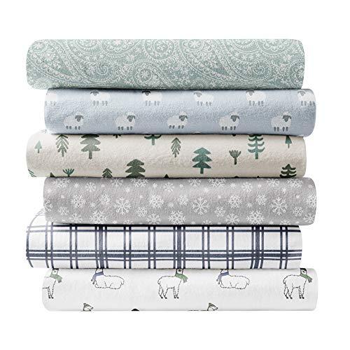 Brielle 100-Percent Cotton Flannel Sheet Set