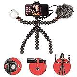 JOBY GorillaPod Mobile Vlogging Kit (Supporto Smartphone, Microfono Wavo Mobile, Luce LED Beamo Mini), Treppiede Flessibile, per Selfie, Fotografia,...