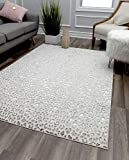CosmoLiving By Cosmopolitan Natura Snow Leopard Transitional Vintage Area Rug 2' x 4'