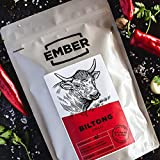 Ember Biltong 1KG Großbeutel – Beef Jerky Chili – Proteinreicher Snack – Chilli (2x500g) - 2