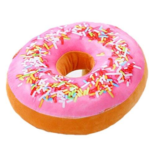 Nunubee - Cojín redondo con divertido estampado en forma de donut, de felpa, para silla de oficina o asiento de coche