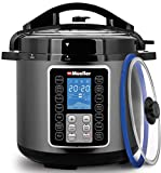 Mueller 6 Quart Pressure Cooker 10 in 1, Cook 2 Dishes at Once, Tempered Glass Lid incl, Saute, ...