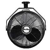 Air King 9718 18-Inch Industrial Grade Ceiling Mount Fan,Black