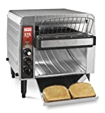 Waring Commercial CTS1000B Heavy-Duty Stainless Steel Conveyor Toaster, 208-volt,Silver