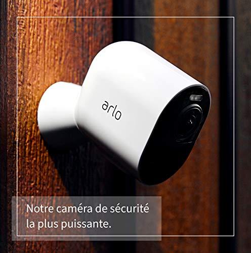 51RJ-W85DFL._SL500_ [Bon plan] Pack Arlo composé de : Caméra Ultra 4K Hdr Avec Station D'Acceuil et Support Aimanté Blanc Conçu Pour Arlo Ultra Et...