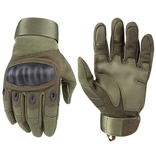 Avril Tian Guanti Tattici, Esercito Militare Nocche in Gomma Dura Outdoor Full Finger Guanti Touch...