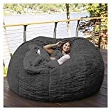 DurableSoft And Comfortable Bean Bag Chair Bean Bag Chair,Chair Cushion 75inch Giant Fur Bean Bag Cover Living Room Furniture Big Round Soft Fluffy Faux Fur BeanBag Sofa Bed Cover (No Filler) (Does no