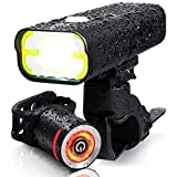 BrightRoad Bike Headlight USA FL1 Approved 800 Lumens, Bike Lights Front and Back Rechargeable with Side Alarming Hole, IPX6 Waterproof Bicycle Light, Mountain Bike Light, Led Bike Tail Light