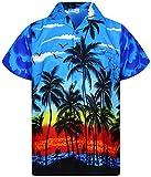 V.H.O. Funky Camisa Hawaiana, Beach, Azul, L