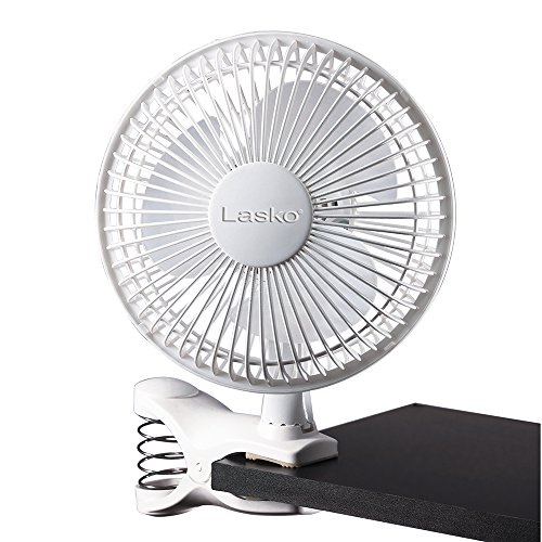 Lasko FBA 2004W 2-Speed Clip Fan, 6-Inch, White, One Size, 2004