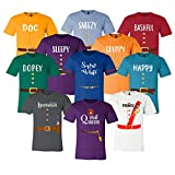 7 Dwarfs Shirts - Cosplay Costume Seven Dwarfs T Shirt Unisex Tee - 7 Dwarf - Family, Cruise, Group Event Snow White and Seven Dwarf Adult, Youth, Toddler