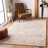 Safavieh Abstract Collection ABT340P Handmade Premium Wool Area Rug, 5' x 8', Ivory / Rust