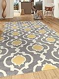 Moroccan Trellis Contemporary Gray/Yellow 5'3' x 7'3' Indoor Area Rug