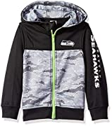 Includes one officially licensed Seattle Seahawks Hooded jacket Polyester surgent fleece Seahawks logo with screen print