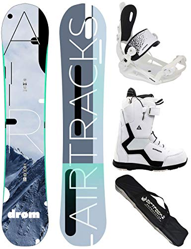 Airtracks Damen Snowboard Set/Drom Lady Rocker 140 + Snowboard Bindung Master + Snowboardboots Strong W QL 38 + Sb Bag