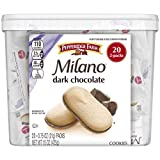 Pepperidge Farm Milano Dark Chocolate Cookies, Multipack Tub, White, 0.75 Oz, 20 Count
